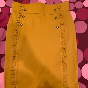 Love Scarlett Mustard Yellow Skirt